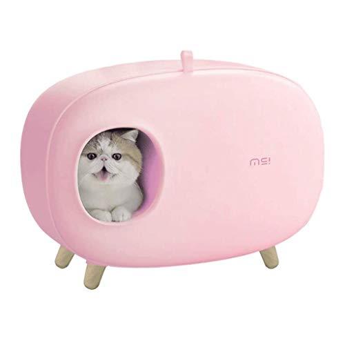 HYX Autonettoyante Cat bac à litière réutilisables Déodorant Anti-éclaboussures Boîte litière...