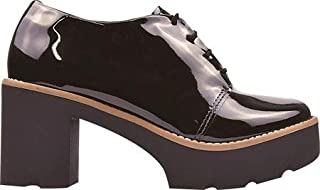 Sapato Oxford Verniz Tratorado Feminino Botinha Eleganteria