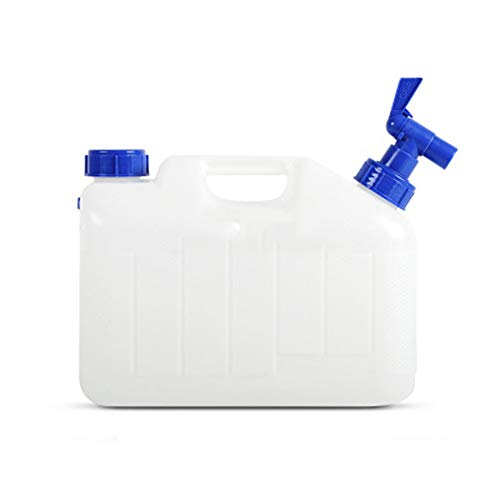 KGDC Plastikwasserspeichereimer, PC-Wasserbehälter, Trinkwasser-Fass im Freien, beweglicher Portable mit Hahn-transparentem Eimer