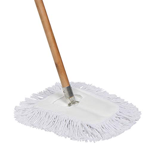 Tidy Tools 10'' Cotton Dust Mop with Wood Handle and Metal Frame (63'' Wood Handle)