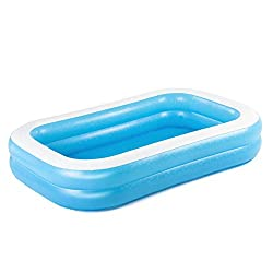 FAMILY PADDLING POOL: ideal for cooling down together in the summer sun EASY SET UP: with no tools required, simply inflate and fill; water capacity 778L (206Gal) 2 EQUAL RINGS: inflated to uphold pool sides with extra wide sidewalls; size 2.62m x 1....