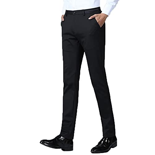 Men Dress Trousers Casual Slim Fit Thin Spring Summer Fashion Youth Business Stretch Office Formal Outdoor Long Pants