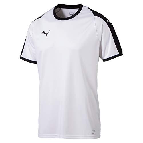 Puma Liga, Maglietta Uomo, Bianco White Black, L