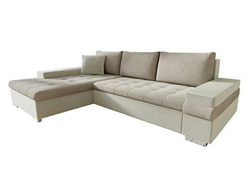 Mirjan24 Design Ecksofa Bangkok Mini, Moderne Eckcouch mit Schlaffunktion und Bettkasten, Ecksofa für Wohnzimmer, Gästezimmer, Couch L-Form, Wohnlandschaft (Magic Velvet 2201 + Kariba 2)