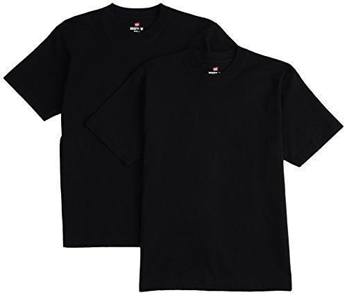 [ヘインズ] ビーフィー Tシャツ BEEFY-T 2枚組 綿100% 肉厚生地 ヘビーウェイト H5180-2 メンズ ブラック 日本 L (日本サイズL相当)