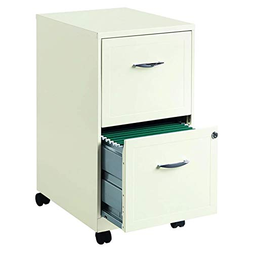 Hirsh SOHO 18' Deep 2 Drawer Mobile Smart File Cabinet in Pearl White