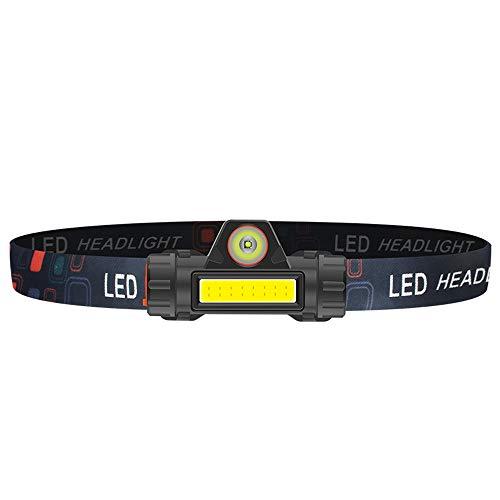 Linterna Frontal Led Recargable, Linterna De Cabeza para Camping, Bicicleta, Pesca, Casco Diadema Ajustable