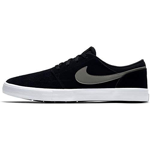 Nike SB Portmore II Solar, Zapatillas de Skateboard Unisex Adulto, Negro (Black/Dk Grey/White 001), 36 EU