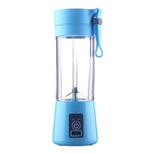 LJLLINGA Licuadora de Frutas eléctrica Botella de Jugo Licuadora Licuadora 2/4 Cuchillas Mini USB Recargable portátil Smoothie Machine Sports