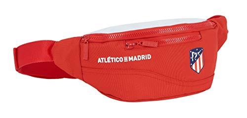 safta Riñonera con Bolsillo Exterior de Atco. de Madrid Femenino, 230x90x120mm, rojo/blanco
