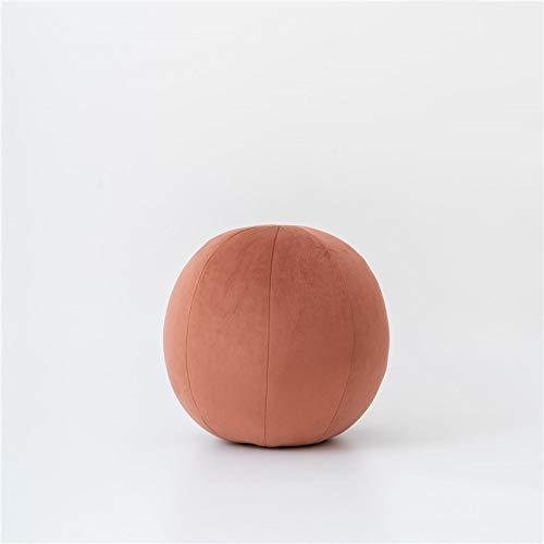 Cojín redondo de terciopelo de color puro, cojín decorativo para el hogar, cojín decorativo para sofá, almohada de bola (7 terciopelo, 30 cm de diámetro)