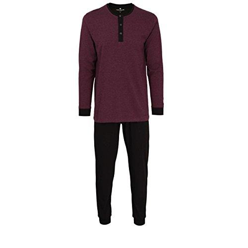 TOM TAILOR Herren Nachtwäsche Zweiteiliger Schlafanzug, Pyjama lang, aus Baumwolle 54