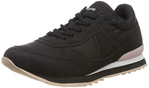 ESPRIT Damen Astro Nylon LU Sneaker, Schwarz (Black 001), 38 EU