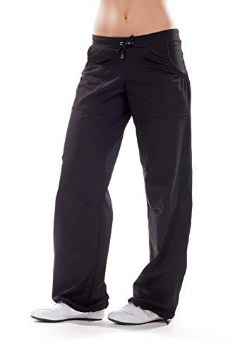 Winshape, Pantaloni da Yoga Donna WTE9, Nero (Schwarz), M