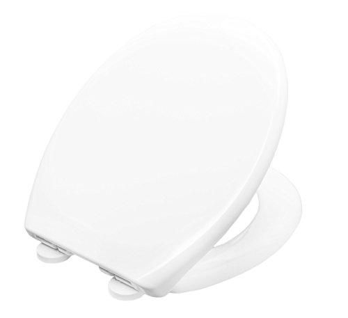 Cornat WC-Sitz Aneto - Klassisch weißer Look - Pflegeleichter Duroplast - Quick up & Clean Funktion - Absenkautomatik - Bequeme Montage von oben / Toilettensitz / Klodeckel / KSANSCOH00