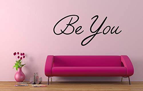 'Be You' Zitat, Vinyl Wandkunst Aufkleber, Wandbild, Aufkleber. Haus, Wand, Spiegel, Fenster, Autodekor. Inspirierendes Zitat. Motivzitat