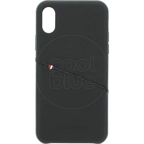 Decoded - Back Cover for Mobile Phone - Full-Grain Aniline Leather - Black - for Apple iPhone X (D7IPOXBC3BK)