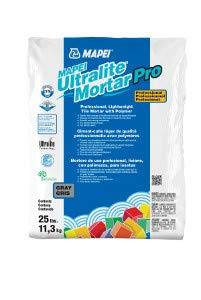 MAPEI Ultralite Mortar Pro Professional, Lightweight Tile Mortar w/Polymer White - 25 Lb. Bag -  Mapei Corporation
