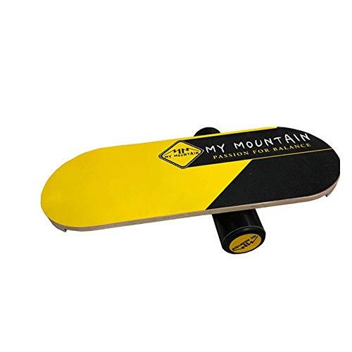 YAzNdom Balance Board Balance Board Fitness Core Voor Training Snowboarden Houten Surfen Oefeningen Gebruikt Voor Fitness Sport Training Board Sport Geschikt voor Dagelijkse Oefening