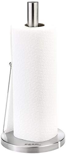 PEARL Küchenrollenhalter: Küchenrollen-Halter aus Edelstahl mit praktischem Abroll-Stopp (Papierrollenhalter)