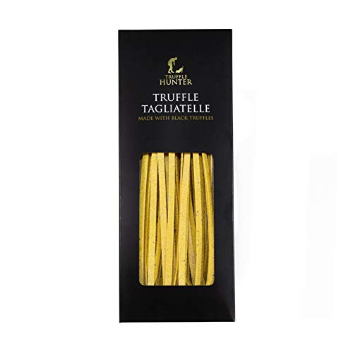 Black Truffle Tagliatelle Pasta (250g) in a Gift Box by TruffleHunter - Made by an Expert Pasta Chef - Luxury & Gourmet Artisan Pasta