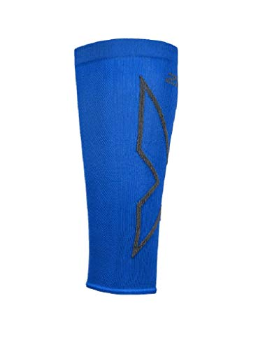 2XU Compression Calf Sleeves Ua5458b Manche, unisexe adulte - Bleu - XL