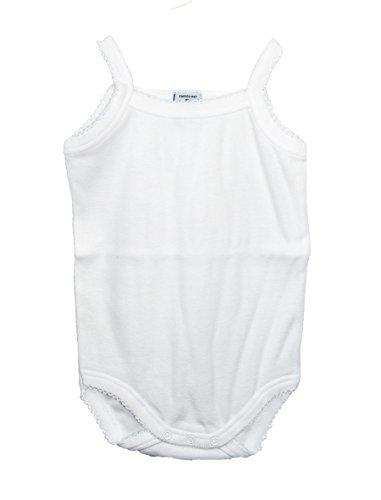 Body Blanco con Tirante Fino (12 Meses)