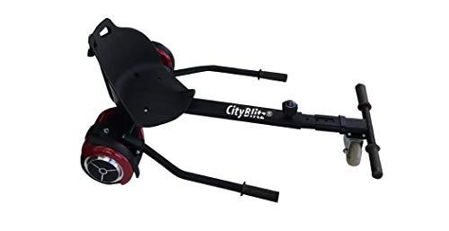 Cityblitz Citykart Pro Kart-Aufsatz für Hoverboards, schwarz, Einheitsgröße