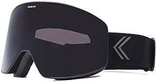 KREEDOM GKCYBLAGMBS La Grave Goggle with Smoke Lens, Large, Black Satin