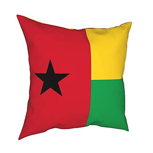 SFDGBTH Flagge von Guinea-Bissau Dekorativer Kissenbezug, 18 x 18 Zoll, Bettwäsche Kissenbezug Rechnung gestellt Kissenbezug, Geeignet für Häuserdekoration von Auto-Sofa