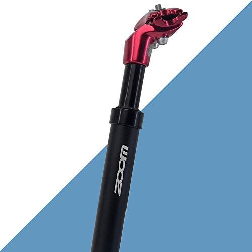 Tija de Sillín, Tija de Sillín con Amortiguador de Suspensión de Aleación de Aluminio, Diámetro 27.2mm /30.9mm / 31.6mm X350mm, Adecuado para Bicicletas de Ciudad y MTB Bicicletas (rojo, 31.6mm)