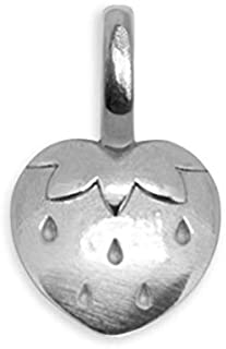 Alex Woo Mini Addition Strawberry Charm, Sterling Silver, 0