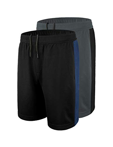 DISHANG Men's Basketball Shorts Dry Fit Mesh Gym Running Shorts with Side...