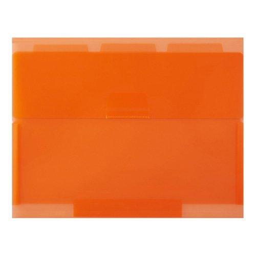 セキセイ ネオワン ルーズリーフケース B5 3ポケット オレンジ NE-5435-51 【まとめ買い10個セット】