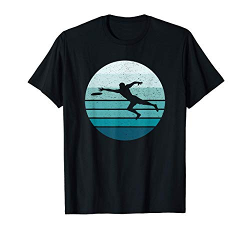 Ultimate Frisbee Striped Sun Sunset T-Shirt