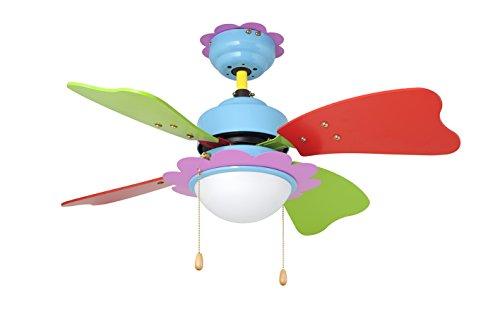 Orbegozo CC62075 Ventilador de Techo con luz, 3 velocidadesaspas de Colores, 75 cm de diámetro, 50 W de Potencia, Multicolor
