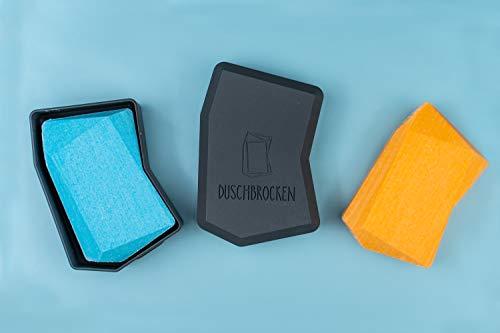 Duschbrocken Nimm Zwei – das Original| 2 Duschbrocken + 1 FAIRpackung | 2in1: Festes Shampoo und Duschgel in einem | Plastikfrei und vegan