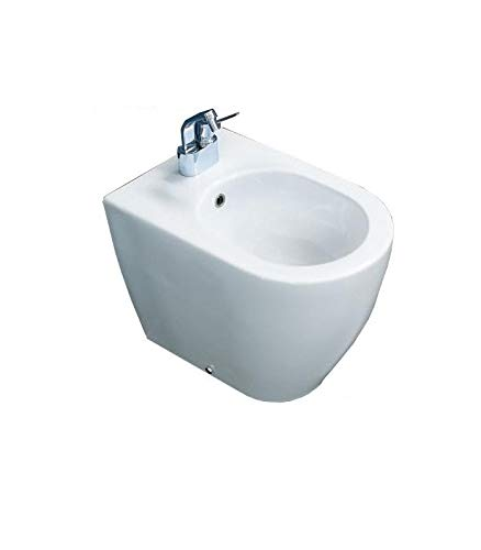 Flaminia, bidet back to wall monoforo, link art.Lk217, finitura bianco