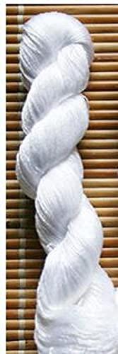 Nuevo bordado de seda de 400 m / hilo de seda 100% / hilo de seda bordado Spiraea bordado a mano bordado en punto de cruz-blanco