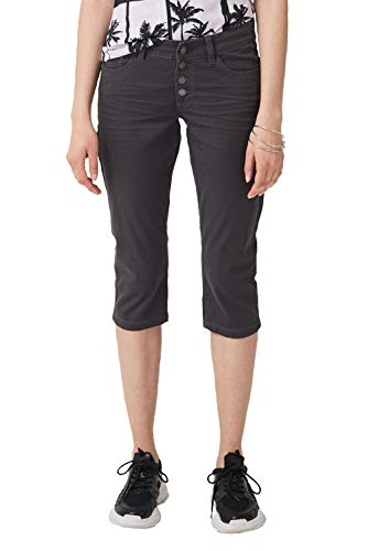 Q/S designed by - s.Oliver Damen 46.904.72.4929 Hose, Grau (Grey 9858), 36