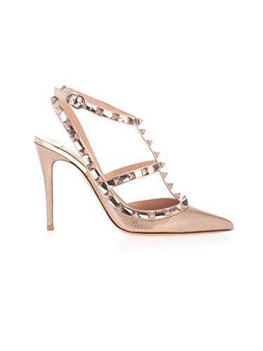 Valentino Luxury Fashion Garavani Damen TW2S0393NNFS69 Rosa Leder Absatzschuhe | Frühling Sommer 20