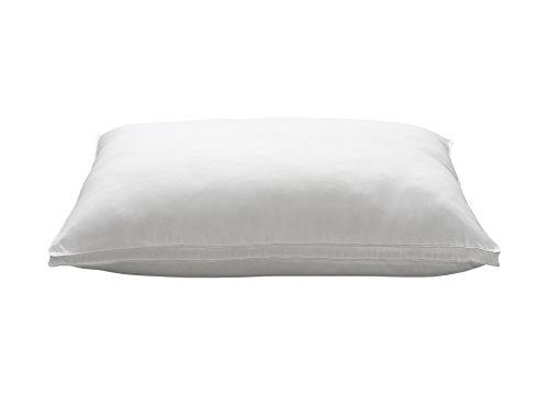 Ella Jayne Home King Size Bed Pillow- Single White Hotel Pillow- Gel Fiber Filled FIRM Gel Pillow with Hypoallergenic Gusset Cover- Best Pillow For Side Sleepers & Back Sleepers
