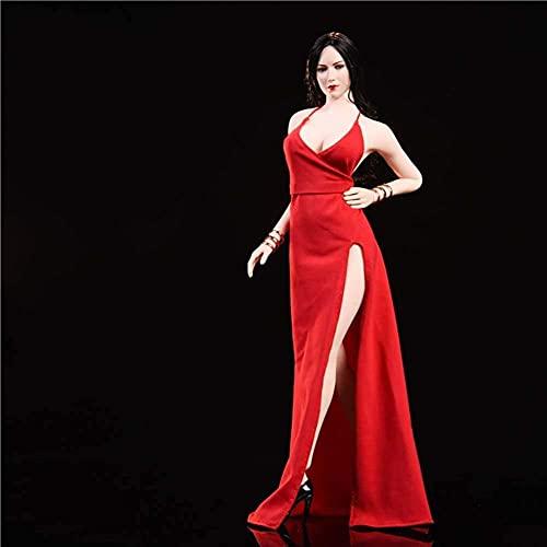 1/6 Abendkleid auf rotem Teppich Kleid Modell Carving Body Zubehör für HT Verycool TTL Gaming PHICEN Red
