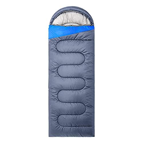 YAeele Saco de Dormir para Acampar Impermeable para Uso en Interiores y Exteriores para Adultos Niños para mochileros Senderismo Viajar Camping con Bolsa de compresión, Gris, 1750g
