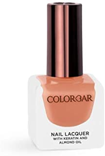 Colorbar Nail Lacquer with Keratin and Almond Oil, 12 ml Model (number/Name) 755 Peachiness