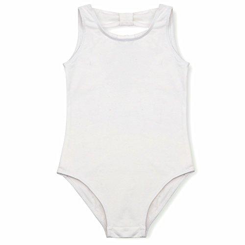 iiniim Enfants Filles Ballet N?UD Papillon Collant Ballet Danse Justaucorps Gymnastique Costumes Blanc 7-8 Ans