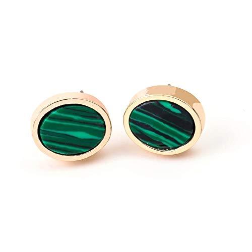 Manson Emeraldas de mármol francés Emeraldas Temperamento Temperamento All-Partido Creatividad Pendiente Personalidad Ornamentos Oído Estilo francés Mármol Esmeraldas Pendiente Pendiente Todos los Ado