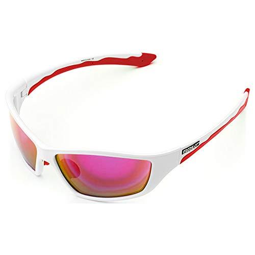 Briko Herren Action Brille, 993 weiß rot-RM3, One Size