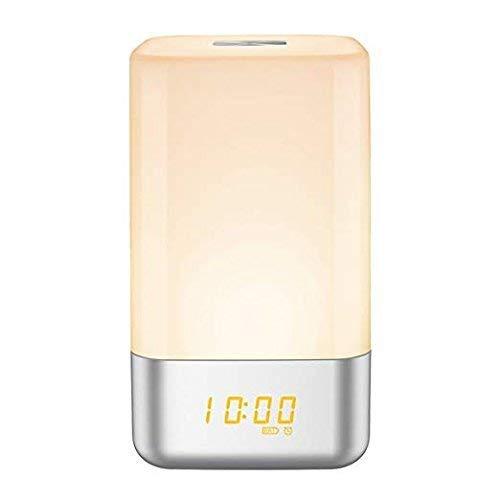 Cxjff Wake Up-Licht-Wecker, Nacht Noten-Lampe mit Sonnenaufgang Simulation, 5 Natural Sounds Multi Licht-Modi, USB aufladbare, Touch Control Nachtlicht for Schlafzimmer [Verbesserte Version]