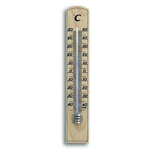 TFA Termometro 12.1004-Termometro per Interni, in Legno